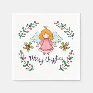 Simple yet Lovely Christmas Angel | Napkin Disposable Serviette