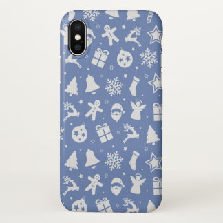 Simple yet Lovely Ditsy Christmas | iPhone X Case