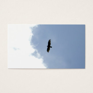 simple yet powerful business card - soaring eagle