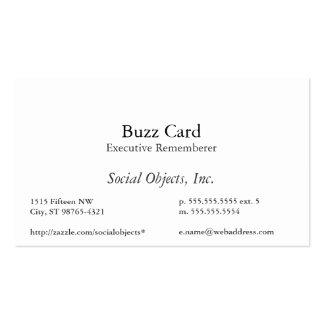 Simplest Serif American Garamond Template Pack Of Standard Business Cards