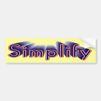 Simpleton Bumper Sticker