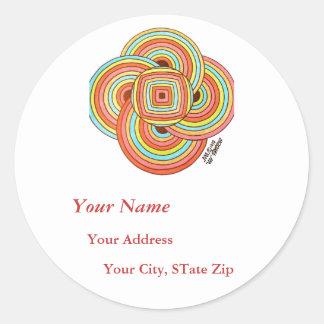 """Simplicity"" Address Label Round Sticker"
