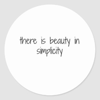 Simplicity Classic Round Sticker