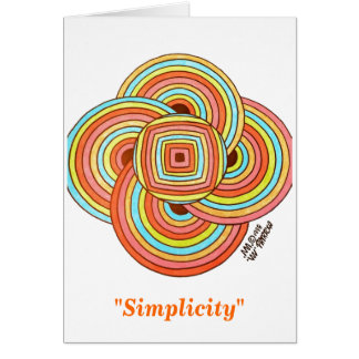 """Simplicity"" Note Card (Blank Inside)"