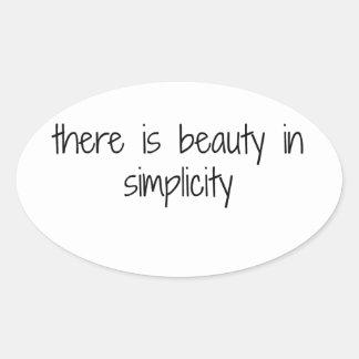 Simplicity Oval Sticker