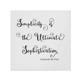 Simplicity Quote - Canvas Canvas Print