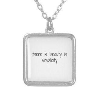 Simplicity Silver Plated Necklace