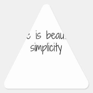 Simplicity Triangle Sticker