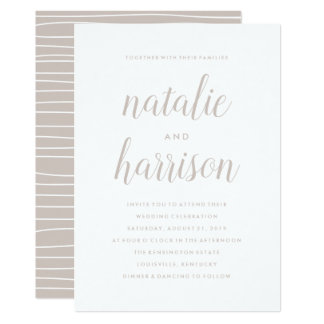 Simplicity | Wedding Invitation