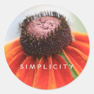 Simplicity Wildflower Envelope Seals Round Sticker