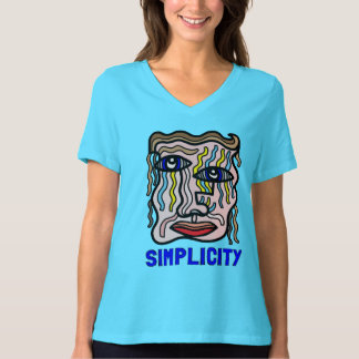 """""""Simplicity"""" Women's Relaxed Fit V-Neck T-Shirt"""