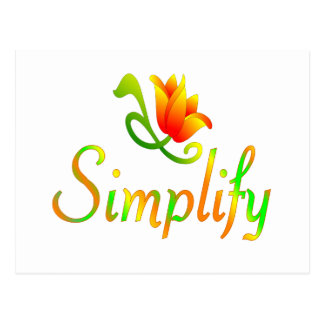 Simplify Postcard