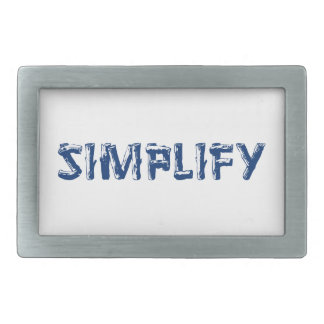 Simplify Rectangular Belt Buckle