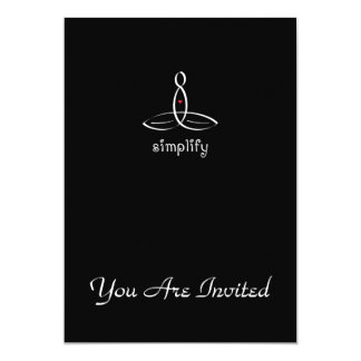 Simplify - White Fancy style 13 Cm X 18 Cm Invitation Card