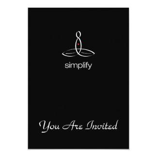 Simplify - White Regular style 13 Cm X 18 Cm Invitation Card
