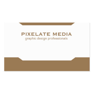 Simplistic angles comprehensive light brown pack of standard business cards