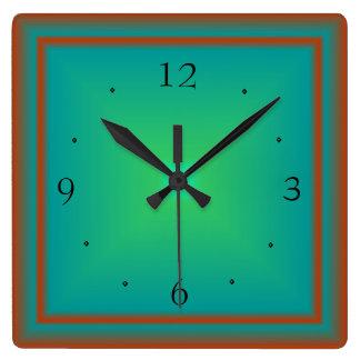 Simplistic Emerald/Green/Red> Wall Clock