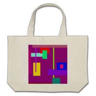 Simplistic Minimal Art Design Dark Magenta Canvas Bags