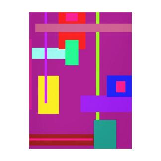 Simplistic Minimal Art Design Dark Magenta Canvas Print