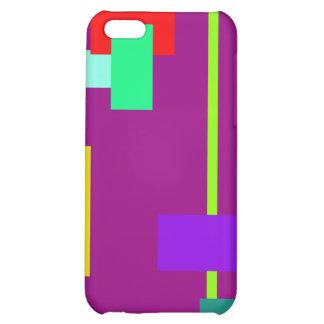 Simplistic Minimal Art Design Dark Magenta iPhone 5C Case