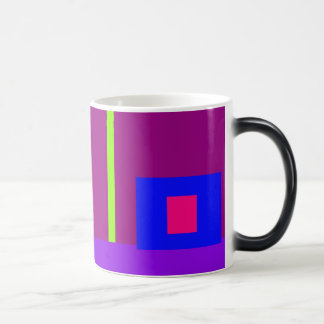 Simplistic Minimal Art Design Dark Magenta Morphing Mug
