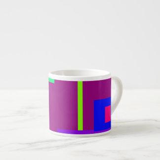 Simplistic Minimal Art Design Dark Magenta Espresso Mug