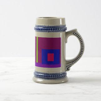 Simplistic Minimal Art Design Dark Magenta Coffee Mug