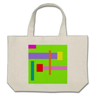 Simplistic Minimal Design Green Field Tote Bags
