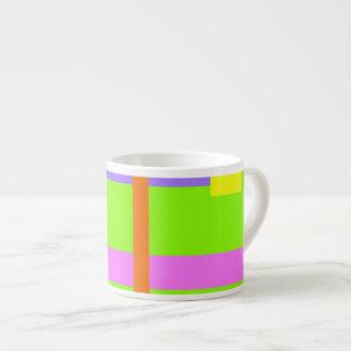 Simplistic Minimal Design Green Field Espresso Mug