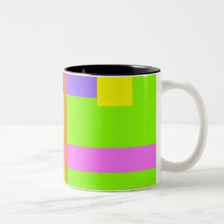 Simplistic Minimal Design Green Field Two-Tone Mug
