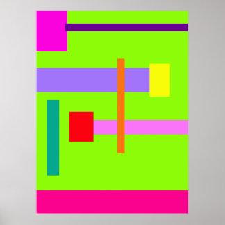 Simplistic Minimal Design Green Field Poster