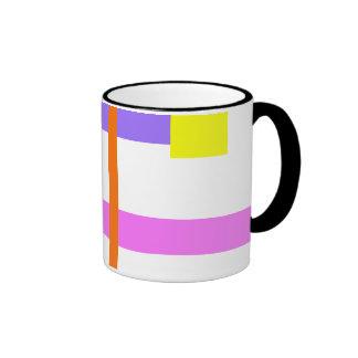 Simplistic Minimal Design Pink Ringer Mug