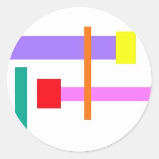 Simplistic Minimal Design Pink Round Sticker