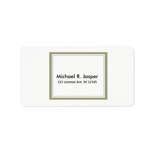Simplistic Minimalist Gold Frame Label