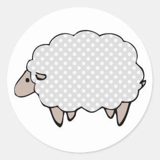 Simplistic Polkadot Grey Sheep Sticker