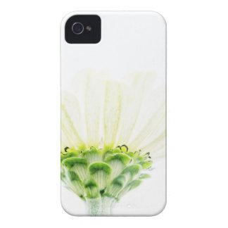 Simplistic White Zinnia iPhone 4 Case-Mate Cases