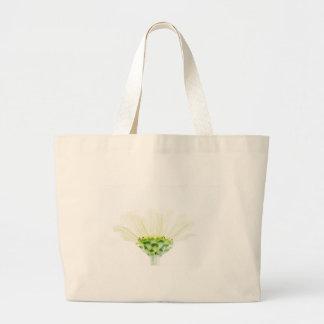 Simplistic White Zinnia Large Tote Bag