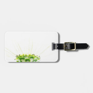 Simplistic White Zinnia Luggage Tag