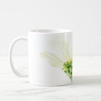 Simplistic White Zinnia Mug
