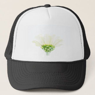 Simplistic White Zinnia Trucker Hat
