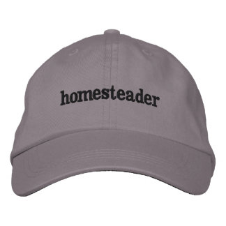 simply a homesteader embroidered hat