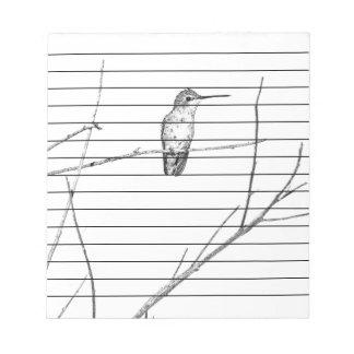 Simply a Hummingbird on a stick Notepads