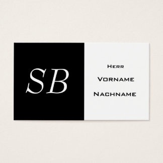 Simply and elegantly business card