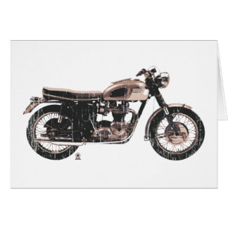 Simply Beautiful Classic Motorcycle Greeting Card