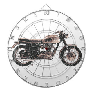 Simply Beautiful Classic Motorcycle Dartboard With Darts