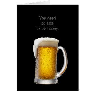 Simply beer greeting card