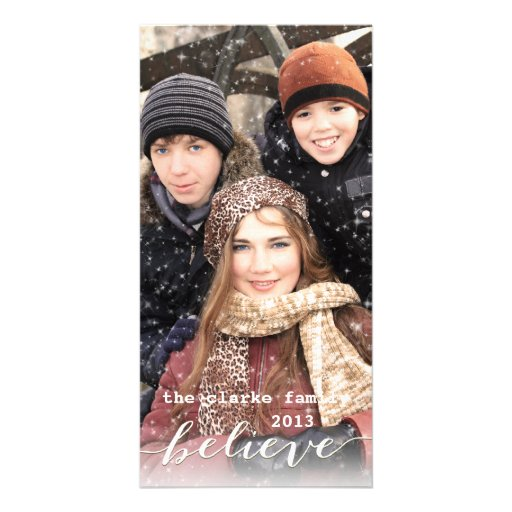 Simply Believe Holiday Photo Cards | Green White