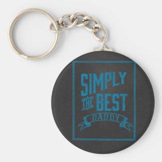 Simply Best Daddy Blue Chalkboard Key Chain