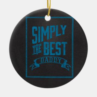Simply Best Daddy Blue Chalkboard Round Ceramic Decoration