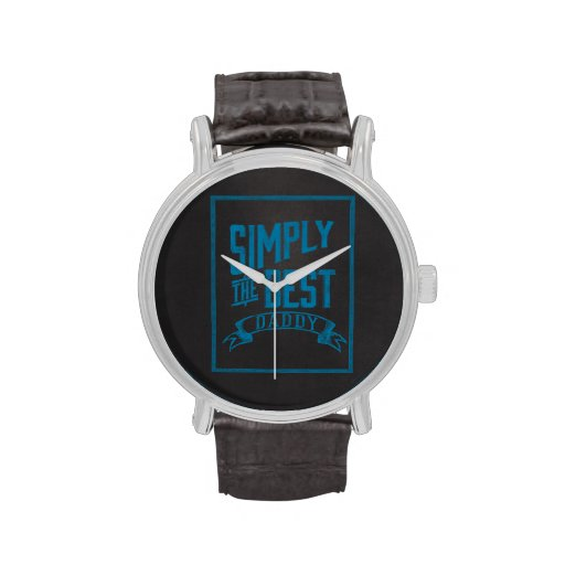 Simply Best Daddy Blue Chalkboard Watches